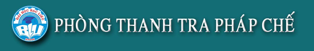 PHÒNG THANH TRA PHÁP CHẾ